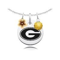 Grambling State Tigersネックレスwithフラワーチャームとクリスタルボールアクセント