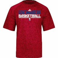 NBA オーセンティック オンコートTシャツ クリッパーズ(レッド) adidas Los Angeles Clippers ClimaLite On-Court T-Shirt - Red