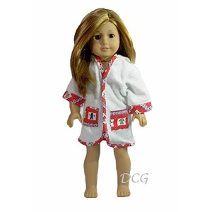 """Rosa Terry Cloth Robe forアメリカンガール18""""人形"""