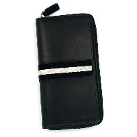 バリー BALLY 長財布 長札 TRAINSPOTTING TASYO TRAVEL WALLET BLACK BLACK/WHITE BKH2