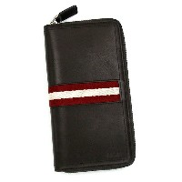 バリー BALLY 長財布 長札 TRAINSPOTTING TASYO TRAVEL WALLET CHOCOLATE RED/WHITE BR