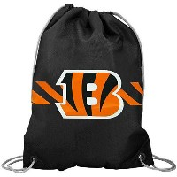 NFL チームロゴ バックパック ベンガルズ Cincinnati Bengals Black Team Logo Drawstring Backpack