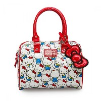 Hello Kitty Vintage Print Patent Embossed Mini City Crossbody Bag