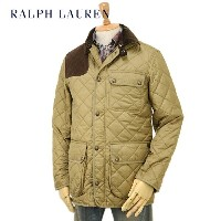 Ralph Lauren Men's Leather Patch Quilted Jacket USラルフローレン メンズ キルティングジャケット