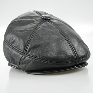 MAYLOOKS Faux Leather Men's Bomber Cap Hat Adult Hats