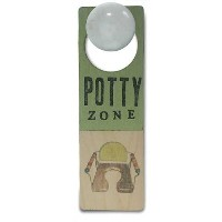 Tree By Kerri Lee Wooden Doorknob Sign, Potty Zone by Tree by Kerri Lee