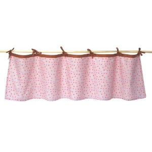 Tadpoles Field of Flowers Tie-Top Window Valance in Pink and Periwinkle by Tadpoles