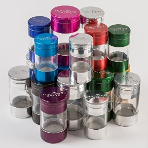 ダイヤモンドGrind Shaker Herb Grinder Medium 56mm ブルー