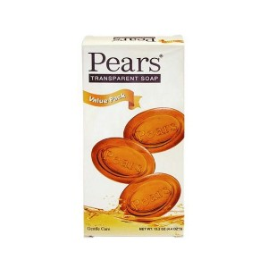 Pears Soap Bars Transparent 4.4 oz bars 3 ea