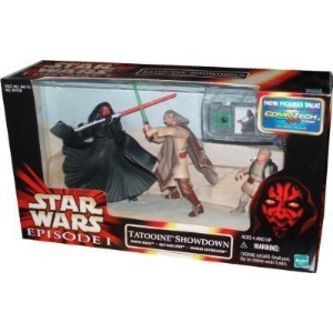 Star Wars Episode I Tatooine Showdown Set With Darth Maul, Qui-Gon Jinn And Anakin Skywalker...