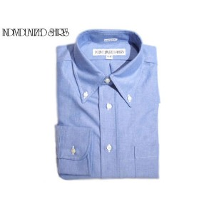 INDIVIDUALIZED SHIRTS(インディビジュアライズド シャツ)/L/S STANDARD FIT B.D. GREAT AMERICAN OXFORD SHIRTS/blue
