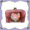 ANNA SUI WALLET WITH CLASP COMPARTMENT (プラム)