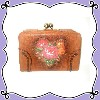ANNA SUI WALLET WITH CLASP COMPARTMENT (ブラウン)
