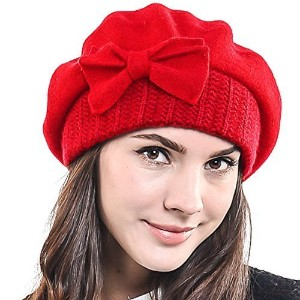 ◆Direct from USA◆ Lady French Beret Wool Beret Chic Beanie Winter Hat Jf-br034-