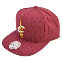 NBA キャバリアーズ キャップ/帽子 WOOL SOLID SNAPBACK キャップ Mitchell&Ness