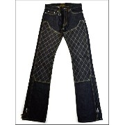 "【SKULL FLIGHT スカルフライト】ボトム/SS PANTS Type2 ""QUILTING W KNEE (ブーツカット)"" ★送料・代引き手数料無料!!REAL DEAL"