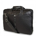 Mobile Edge(モバイルエッジ) Deluxe Leather Briefcase(デラックスレザーブリーフケース) 16インチノートパソコン...