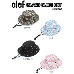 clef クレ ISLAND GUIDE HAT RB3485 アイランド ガイド ハット BROWN BLUE DOT/BLACK PINK ナイロン2レイヤー 帽子 正規品