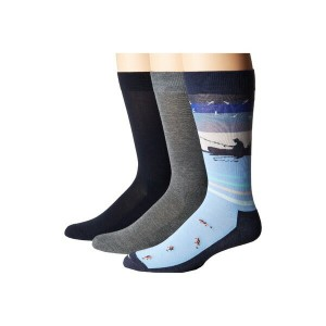 ヒュー レディース 靴下 アンダーウェア Fishing Socks with Half Cushion 3-Pack Nearly Navy Pack