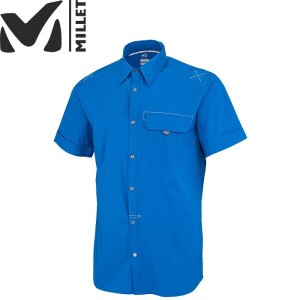 MILLET ミレー BACK COUNTRY STRETCH SS SHIRT 〔特価 旧モデル 半袖シャツ Mens〕 (SKYDIVER):MIV6498