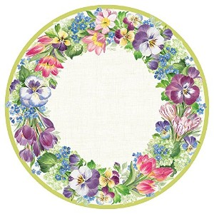 Entertaining CaspariスプリングガーランドDinner Plates Dinner Plates 12380DP
