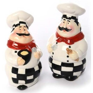 シェフSalt and Pepper Shaker Set