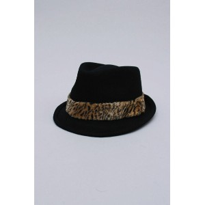 TRILBY WOOL ANIMAL FUR BAND[E0000479] EK by NEW ERA(イーケー・バイ・ニュー・エラ)