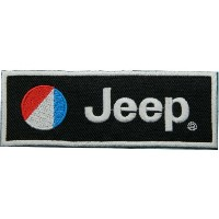 Jeep Brand of Car Motorsport Racing Patch (black) Embroidered Iron on Patch/Hooray Ya by Hooray Ya