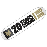 【ズーヨーク デッキ】ZOO YORK 20 YEARS STRONG 8.25×32.06 WHITE