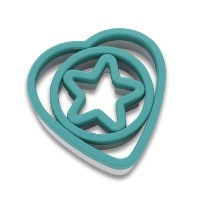 KitchenAidグルメCookie Cutters Rim ( Deep Teal , Set of 3 )