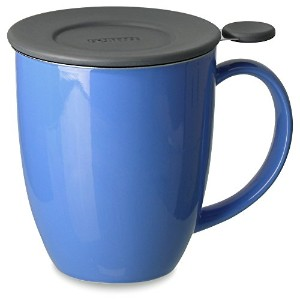 FORLIFE Uni Brew-in-Mug with Tea Infuser and Lid, 16-Ounce, Blue by FORLIFE