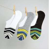ANTIPAST(アンティパスト)/Ripples Stripe Ankle Socks