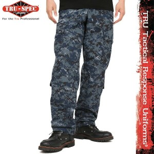 TRU-SPEC トゥルースペック 米軍 Tactical Response Uniform パンツ NAVY Digital Camo (Midnight Digital) 1312【WIP03】...