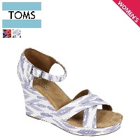 TOMS SHOES トムズ シューズ レディース サンダル WOMEN'S SUSTAINABLE STRAPPY WEDGES トムス トムズシューズ
