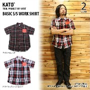 KATO' DENIM(カトーデニム)BASIC S/S WORK SHIRT 2color
