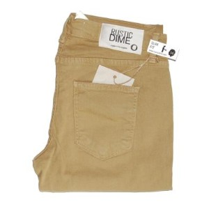 RUSTIC DIME DENIM SLIM FIT SKINNY DENIM PANTS (KHAKI)