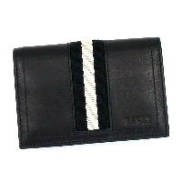 バリー BALLY カードケース TRAINSPOTTING TOBEL BUSINESS CARD HOLDER BLACK BLACK/WHITE BK