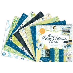 Die Cuts with a View (DCWV) 12x12in ペーパースタック Blue Citrus 48枚入