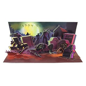 UP WITH PAPER ポップアップ ハロウィン グリーティング カード Zombies with SOUND A-245AUD