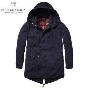 【25%OFFセール 5/26 10:00〜5/29 9:59】 スコッチアンドソーダ SCOTCH&SODA 正規販売店 メンズ アウターパーカー Long parka, quilted down...