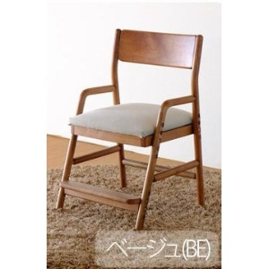 ISSEIKI DESK CHAIR デスクチェア 幅45 (MBR/WH+BE) 木製家具 【FI-77-10】