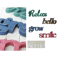 【500WORKS.】★BIGSALE★オールドウッドタンゴ(Relax/hello/smile/grow/home)【切り文字/木製】