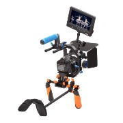 Pro DSLR Video Movie Kit Combination Shoulder Support Mount Rig+Hand Grip+ Follow Focus Finder With ...