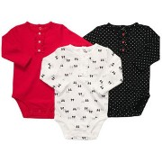 Carter's(カーターズ) ヘンリーネック風ロンパース3枚セット/ボディスーツ 24M [Baby Product] [Baby Product]