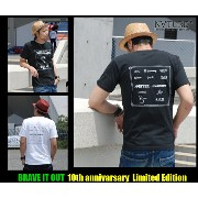 """【30%OFF】NATURE【2カラー】""""BRAVED"""" S/S TEE(ナチュール)Tシャツ.10th anniversary Tee☆VIRGO.女神織.DOUBLE STEAL.quolt..."""