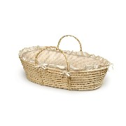 Badger Basket Natural Baby Moses Basket ベビー キャリー かご (ベージュ)