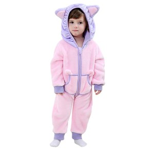 Hooded Long Sleeve Soft Cute Jumpsuit For Infant Girls Baby Clothes