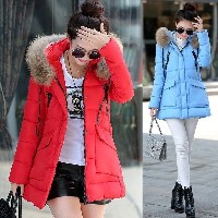 2015 new winter Women s cotton-padded jacket medium-long down cotton plus size jacket female slim la