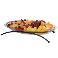 Creative Bath 1層Buffet Server withボーナスDivided Platter クリア BUF01- BNS - BLK