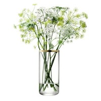 LSA FLOWER CYLINDER BOUQUET ベース H200mmゴールド <箱入り>【花瓶】